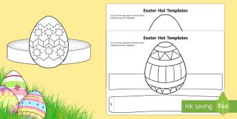 Easter Hat Templates Worksheet / Activity Sheet - easter, easter hats, hat templates, easter hat templates, easter hat parade, worksheet, easter hat ,