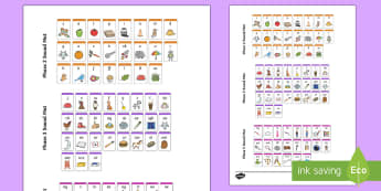Phase 2, 3 and 5 Phonemes Sound Mat - phonics, blends, simple code, basic code, complex code,Australia