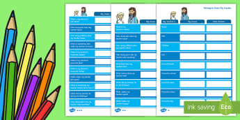 Getting to Know My Teacher Guessing Worksheet / Activity Sheet - Back to School, getting to know you, class introduction, start of the year, transition,Australia, Wo