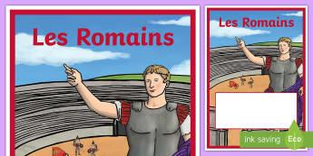 Intercalaire pour classeur ou cahier : Les Romains  - Rome, romains, romans, nombres romains, roman numbers, histoire, history, antiquité, gallo-romains,