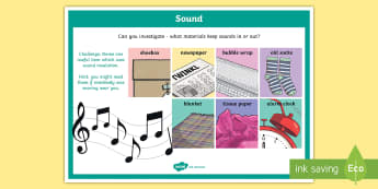 Science Sound Insulation Investigation Prompt Display Poster - science, SESE, investigation, experiment, equipment, resources, open-ended, prompt question, procedu