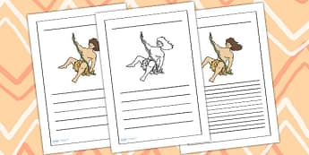 Tarzan Writing Frame - tarzan, tarzan themed, tarzan writing frames, themed writing frames, tarzan themed writing frames, jungle themed, writing frame
