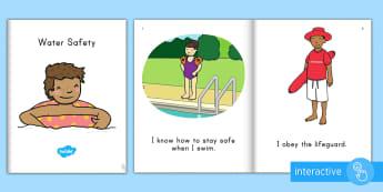 Water Safety Emergent Reader eBook - Water safety, summer safety, personal safety, emergent reader, ebook, pre-k literacy, kindergarten l