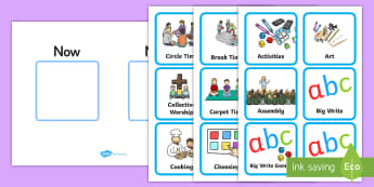 Now and Next Board and Cards Resource Pack - SEN, inclusion, visual timetable, work station, display