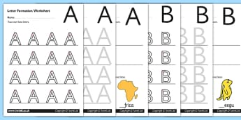 Uppercase A-Z Letter Formation Worksheets-letter formation, A-Z, uppercase, letter formation worksheet, letter worksheet, letters