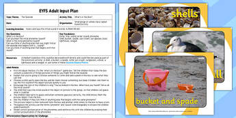 Seaside Themed What's in the Box EYFS Adult Input Plan and Resource Pack