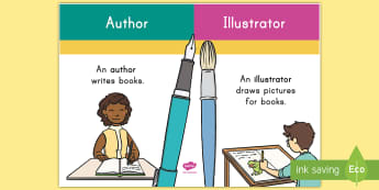 Author and Illustrator Display Poster - Author, Illustrator, Common Core, ELA