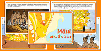 Māui and the Sun Story Short Sequencing Cards