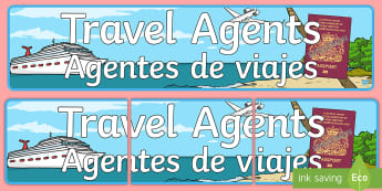 * NEW * Travel Agents Display Banner - English / Spanish - Travel Agents Display Banner - Travel agent, holiday, travel,  Display, Posters, Freize, holidays, a
