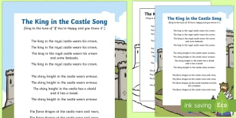 The KIng in the Castle Song - knights, kings, queens, princesses, princes, royalty, medieval, action songs, singing time, nursery