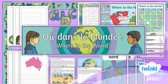 French: Where in the World? Year 4 Additional Resources