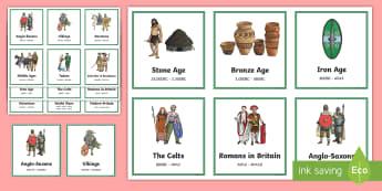 British History Timeline Sorting Cards - British History Timeline Posters - Britain, Timeline, Posters, Timw