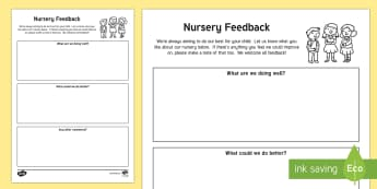 Parent and Carer Feedback Letter - Requests CfE, nursery, early years, feedback, care inspectorate, parental involvement, Scottish