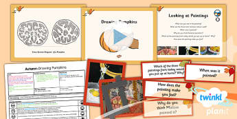 Art: Autumn: Drawing Pumpkins LKS2  Lesson Pack 5