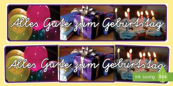 Alles Gute zum Geburtstag Banner für die Klassenraumgestaltung - Alles Gute zum Geburtstag Banner für die Klassenraumgestaltung, Alles Gute zum Geburtstag, Geburtst