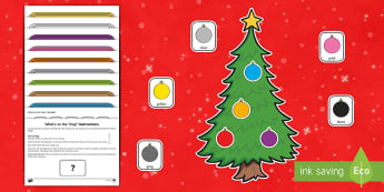 What's on the Tray? Christmas Baubles Memory Activity Pack - memory games, memory, memory game, memory activities, memory games for kids, auditory memory activit