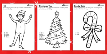 Elf Themed Colour by Number - colour, number, elf, activity