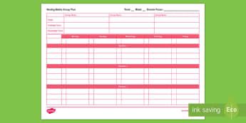 Three Maths Groups Weekly Plan - Planning, Maths, Weekly Plan, Plan, Weekly, Mathematics, Numeracy