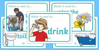 What Water Is Used For Posters - water, cycle, science, poster