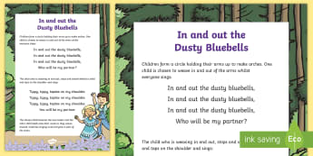In and Out the Dusty Bluebells Song - early concepts, in, out, nursery rhymes, singing games, singing, song time, maths, number song.