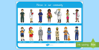 Heroes In Our Community Large Display Poster - People Who Help Us, heroes in our community, heroes, hero, display poster, topic, new zealand