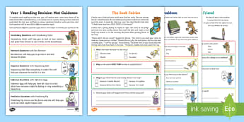 Year 1 Reading Revision Activity Mat Pack 2 - Comprehension, assessment, Fiction, Non-Fiction, poetry