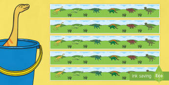 Display Borders to Support Teaching on Harry and the Bucketful of Dinosaurs - dinosaurs
