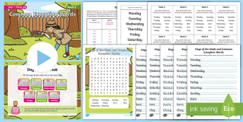 Year 1 Term 2A Week 6 Spelling Pack - Spelling Lists, Word Lists, Spring Term, List Pack, SPaG, GPS