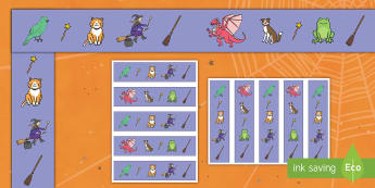 Witch and Animals Display Borders - room on the broom, display borders, themed borders, display, borders, classroom borders, display board borders