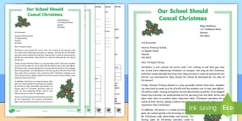 Australian Christmas Persuasive Letter Differentiated Reading Comprehension Activity - Naplan, Persuasive text, Argument, point of view, December, celebration,Australia