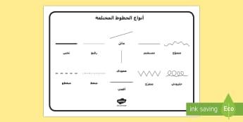 أنواع الخطوط المختلفة Arabic-Arabic - خطوط، أنواع، رسم، فنون، مفردات، معارف، سميك، رفيع، مست