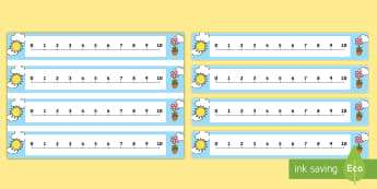 1-10 Number Line - 1-10, numbers, counting, ordering numbers,