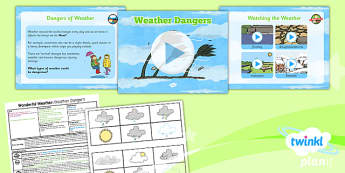 Geography: Wonderful Weather: Weather Dangers Year 1 Lesson Pack 4