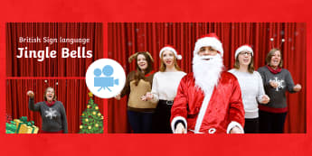 Jingle Bells Christmas Carol with British Sign Language (BSL) Video - twinklgo, twinkl go, go, video, british sign language, makaton songs, advent makaton, makaton jingle bells, jingle bells makaton, jingle bells bsl, jingle bells sign language, jing