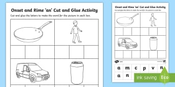 an Onset and Rime Differentiated Activity Sheets - an Onset and Rime Differentiated Activity Sheets - EYLF, Literacy, phonological awareness, onset and
