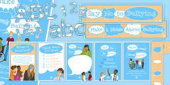 Anti-Bullying Week Display Pack - anti-bullying week, display, pack