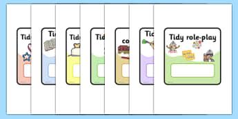Tidy Up Job Cards - Pupil job cards, tidy, tidy up, job badges, monitors, classroom monitors, pupil jobs, helpers, job labels, Foundation Stage Labels, Teaching Labels