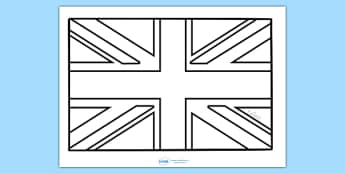 Union Jack Colouring Sheet - Football, Flag, World Cup, Soccer, fine motor skills, colouring, activity, nations, countries, flags