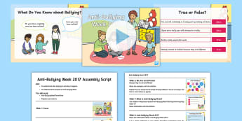 KS1 Anti-Bullying Week 2017 Assembly Pack - 13th - 17th November, bullying, Wear Blue Campaign, ABW, Friendship