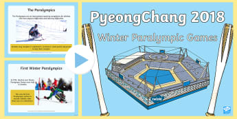 Winter Paralympic Games PowerPoint - Winter Olympics, Paralympics, Winter Paralympics, Olympics, Pyeongchang