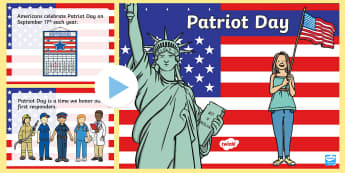 Patriot Day PowerPoint - patriot day, 9/11, september 11th, 9/11 powerPoint, september 11 powerPoint, patriotic, patriotism
