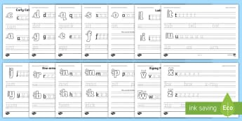Letter Families and CVC Words Handwriting Worksheet / Activity Sheet Pack - letter families, cvc words, handwriting, activity, writing, worksheet