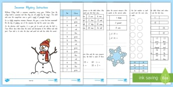 The Mystery of the New Zealand Snowman's Nose Problem Solving Game - New Zealand, Winter, Seasons, Snow, Skiing, Snowboarding, Mountains, Ski Fields, Snow Day, mystery