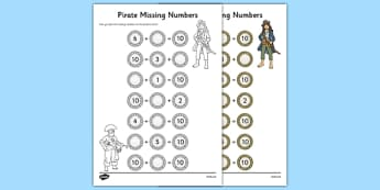 Missing Numbers to 10 Worksheet / Activity Sheet, worksheet
