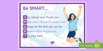 Be Smart A4 Display Poster - Behaviour, Smart, Classroom Management, motivation, display