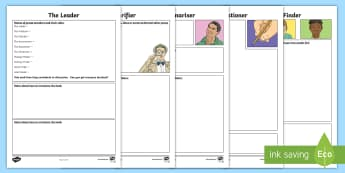 Reciprocal Reading Note Taking Activity Sheets - Reciprocal Reading, Book detectives, Reading Homework, Literacy, tools for reading, ,Scottish