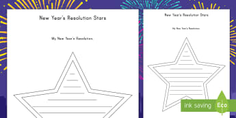 New Year Resolution Worksheet / Activity Sheets - New Year, resolutions, writing, activity