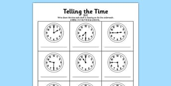 O'clock, Half Past and Quarter Past Times Activity Sheet English/Mandarin Chinese - mandarin chinese, o'clock, half past, quarter to, times, activity, worksheet