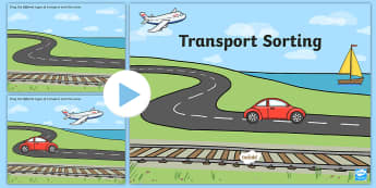 Transport Sorting Activity Flipchart - Transport Sorting Activity - activity, game, fun, transport, sorting activity, sorting game, transpo