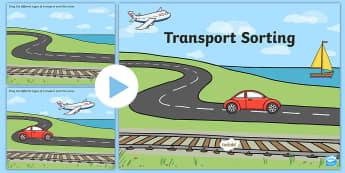 Transport Sorting Activity Flipchart - Transport Sorting Activity - activity, game, fun, transport, sorting activity, sorting game, transpo
